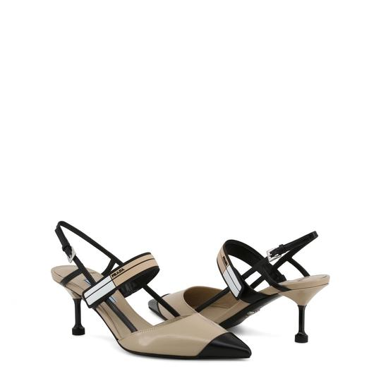 Prada Leather Slingback Sandal Heel Brown Pumps Image 2
