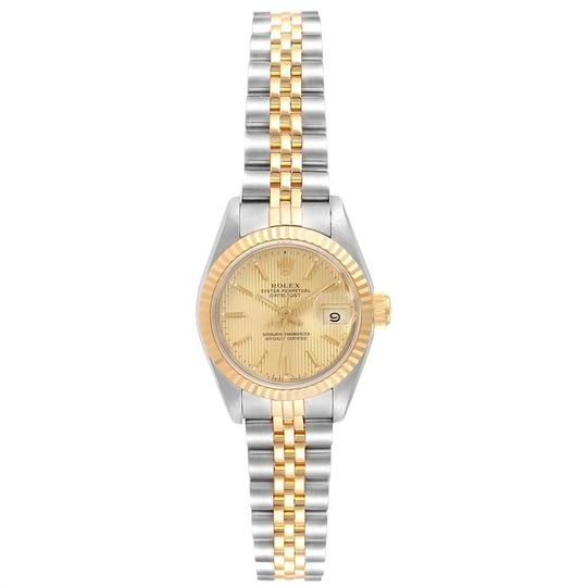 Rolex Rolex Datejust Steel Yellow Gold Tapestry Dial Ladies Watch 69173 Box Image 1