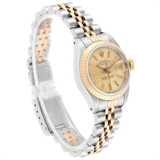 Rolex Rolex Datejust Steel Yellow Gold Tapestry Dial Ladies Watch 69173 Box Image 2