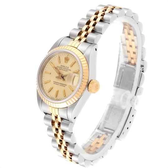 Rolex Rolex Datejust Steel Yellow Gold Tapestry Dial Ladies Watch 69173 Box Image 3