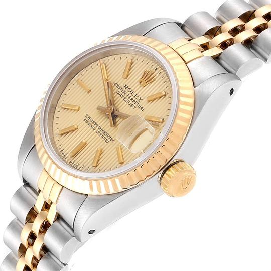 Rolex Rolex Datejust Steel Yellow Gold Tapestry Dial Ladies Watch 69173 Box Image 4