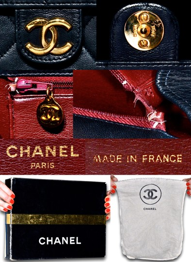 Chanel Quilted Lambskin Leather Clutch Shoulder Bag Image 11