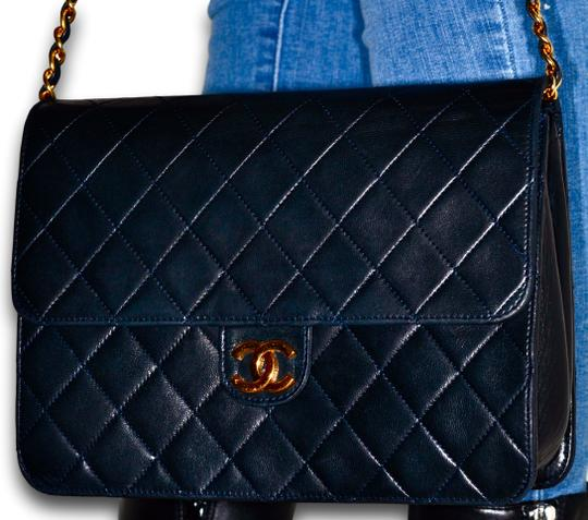 Chanel Quilted Lambskin Leather Clutch Shoulder Bag Image 2