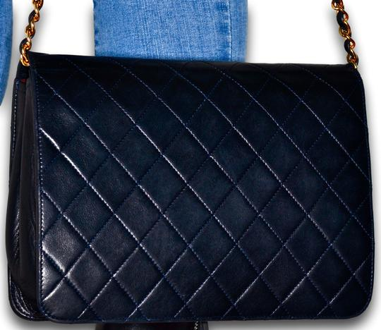 Chanel Quilted Lambskin Leather Clutch Shoulder Bag Image 3