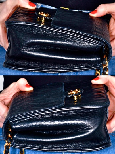 Chanel Quilted Lambskin Leather Clutch Shoulder Bag Image 5