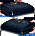 Chanel Quilted Lambskin Leather Clutch Shoulder Bag Image 6