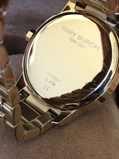 Tory Burch Collins gold/navy chronograph watch Image 5