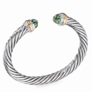 David Yurman 14k Gold Prasiolite Cuff 7mm