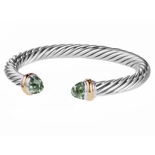 David Yurman 14k Gold Prasiolite Cuff 7mm Image 2
