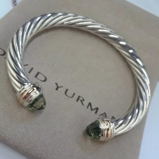 David Yurman 14k Gold Prasiolite Cuff 7mm Image 3