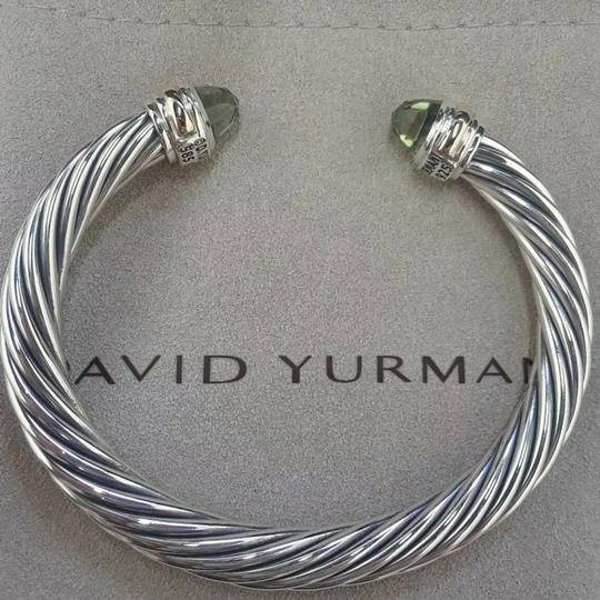 David Yurman 14k Gold Prasiolite Cuff 7mm Image 6