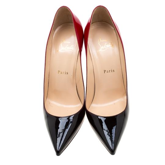 Christian Louboutin Patent Leather Pigalle Pointed Toe Red Pumps Image 2