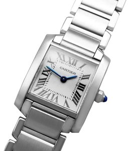 Cartier Cartier Ladies Tank Francaise Stainless Steel W51008Q3 Watch - Mint wi