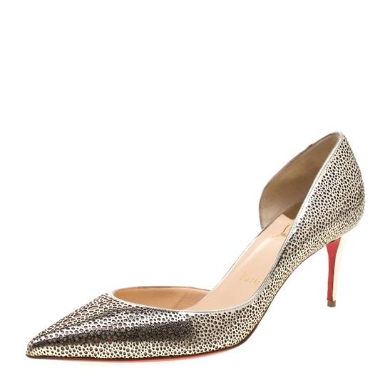 Preload https://img-static.tradesy.com/item/26272377/christian-louboutin-gold-perforated-leather-and-glitter-galu-d-orsay-pointed-pumps-size-eu-39-approx-0-0-540-540.jpg