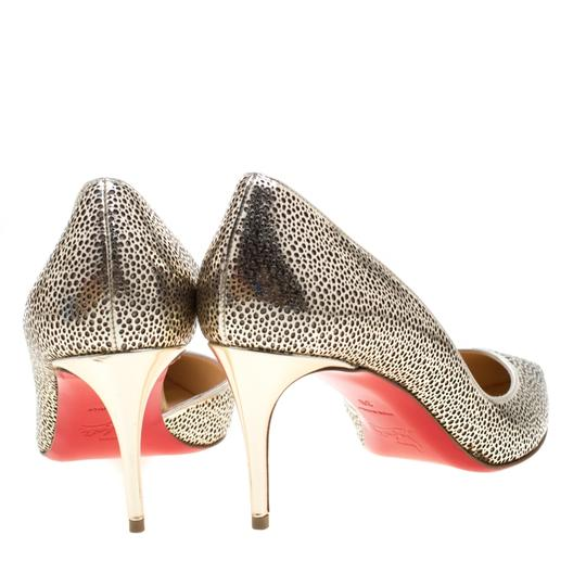 Christian Louboutin Gold Pumps Image 4