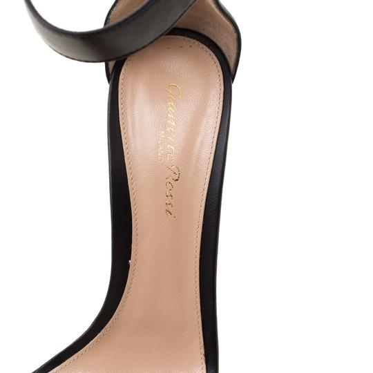 Gianvito Rossi Leather Ankle Strap Open Toe Black Sandals Image 6