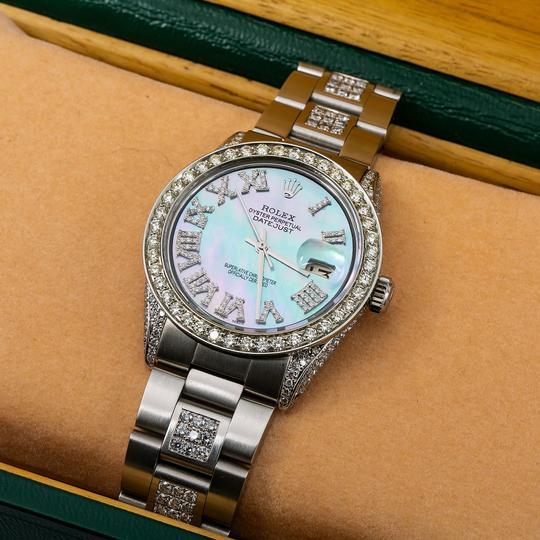 Rolex Rolex Datejust 1601 36MM Light Blue Mother of Pearl Diamond Dial Image 1