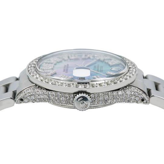 Rolex Rolex Datejust 1601 36MM Light Blue Mother of Pearl Diamond Dial Image 2