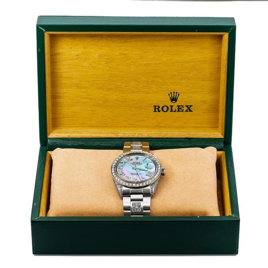 Rolex Rolex Datejust 1601 36MM Light Blue Mother of Pearl Diamond Dial Image 4