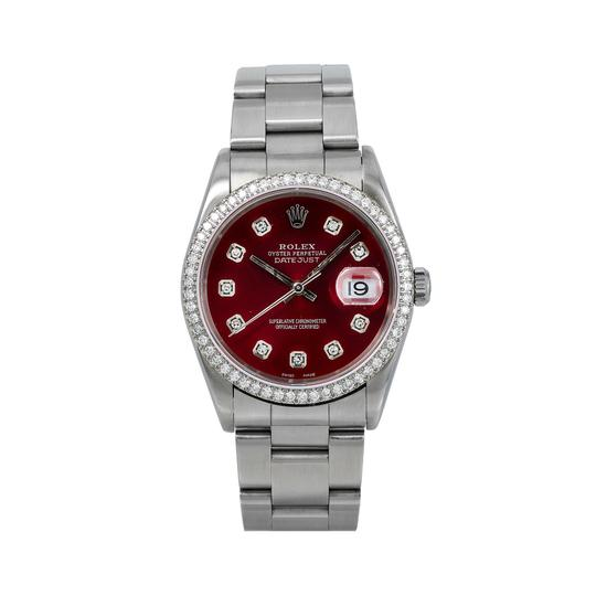 Preload https://img-static.tradesy.com/item/26272593/rolex-red-datejust-c36mm-diamond-dial-with-stainless-steel-oyster-watch-0-0-540-540.jpg