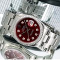 Rolex Rolex Datejust c36MM Red Diamond Dial With Stainless Steel Oyster Image 1