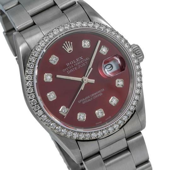 Rolex Rolex Datejust c36MM Red Diamond Dial With Stainless Steel Oyster Image 2