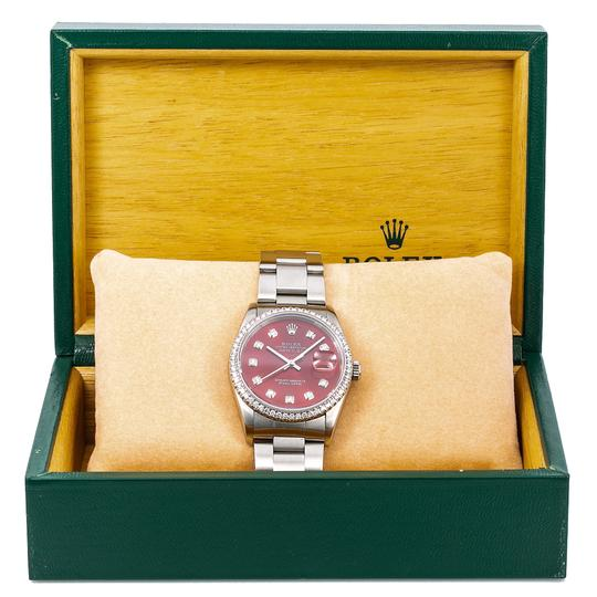 Rolex Rolex Datejust c36MM Red Diamond Dial With Stainless Steel Oyster Image 5