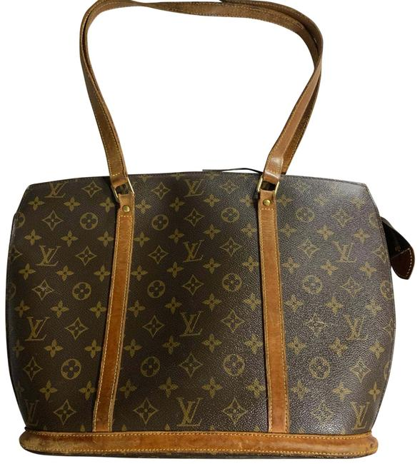 Louis Vuitton Babylone Vintage Monogram Canvas Leather Zip Top Brown Tote Louis Vuitton Babylone Vintage Monogram Canvas Leather Zip Top Brown Tote Image 1