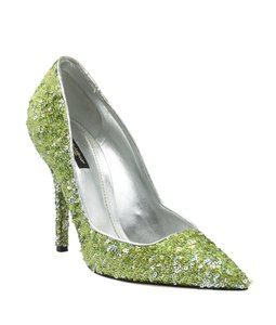 Dolce & Gabbana Heels Sequin Green Pumps