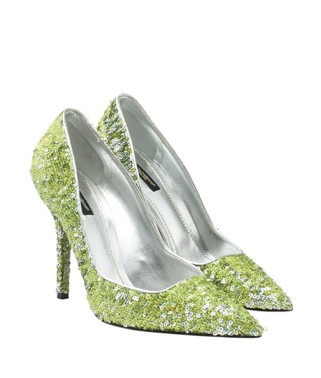 Dolce & Gabbana Heels Sequin Green Pumps Image 1