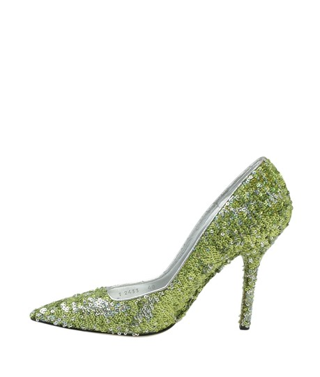 Dolce & Gabbana Heels Sequin Green Pumps Image 3