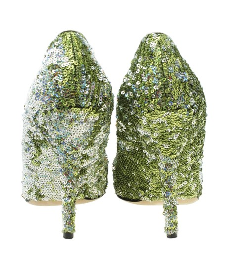 Dolce & Gabbana Heels Sequin Green Pumps Image 5