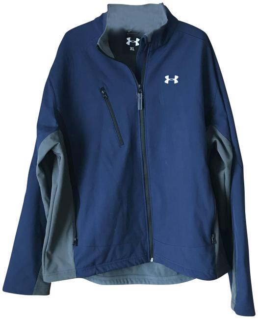 Item - Blue W/Grey Men's Eclipse Softshell Jacket Size 18 (XL, Plus 0x)