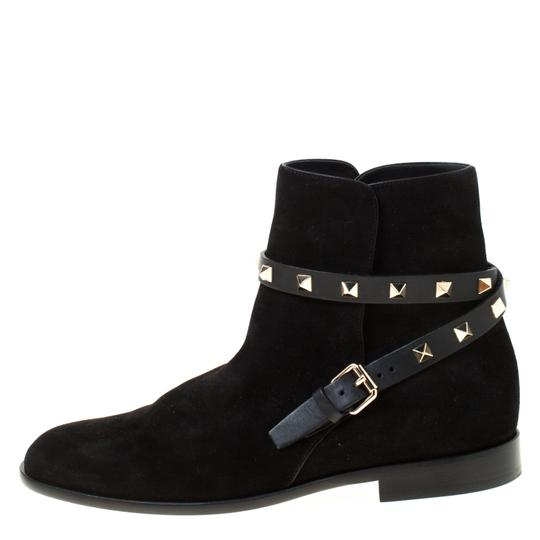 Valentino Suede Ankle Black Boots Image 1