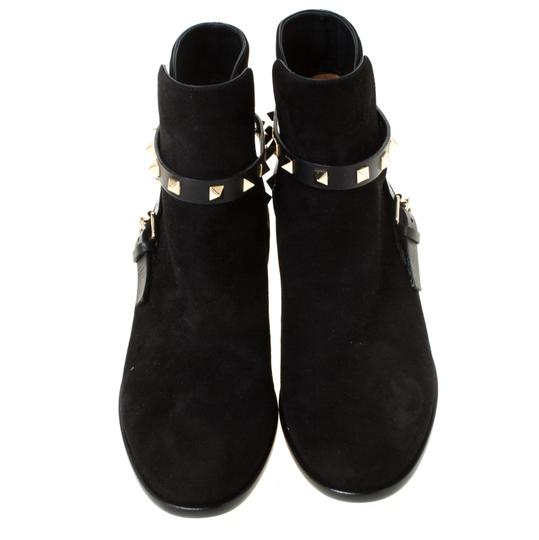 Valentino Suede Ankle Black Boots Image 2