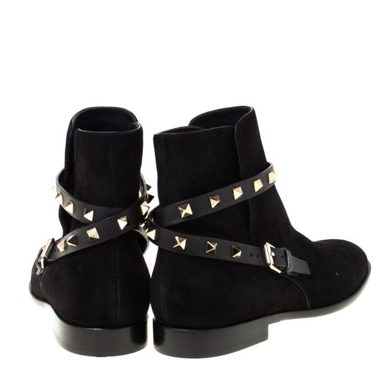 Valentino Suede Ankle Black Boots Image 3