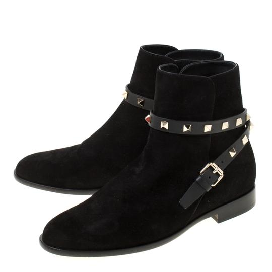 Valentino Suede Ankle Black Boots Image 4