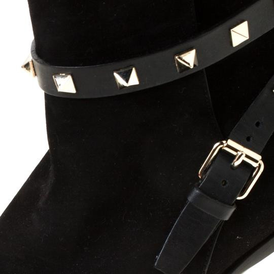 Valentino Suede Ankle Black Boots Image 5