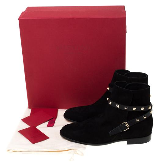 Valentino Suede Ankle Black Boots Image 7