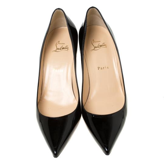Christian Louboutin Patent Leather Pointed Toe Black Pumps Image 2