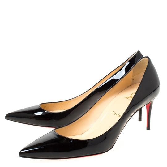 Christian Louboutin Patent Leather Pointed Toe Black Pumps Image 4