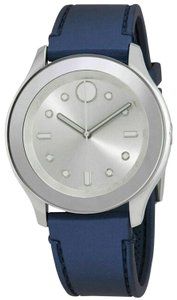 Movado Rubber Strap Stainless Silver Dial Womens 3600427