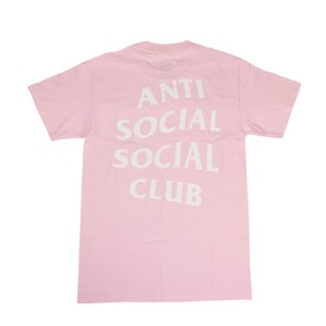 Anti Social Social Club Cotton Logo Soft Exclusive Summer T Shirt Pink