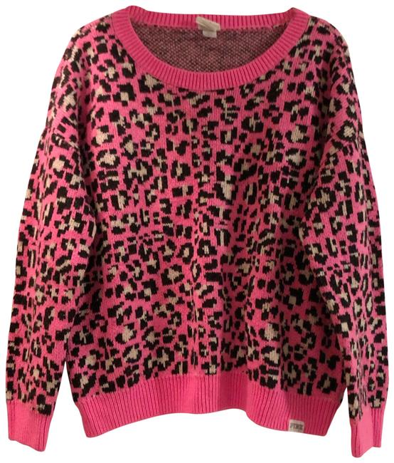 PINK Victoria Secret Leopard Sweater PINK Victoria Secret Leopard Sweater Image 1