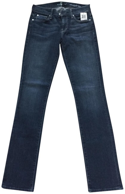 Item - Blue Dark Rinse Boot Cut Jeans Size 26 (2, XS)