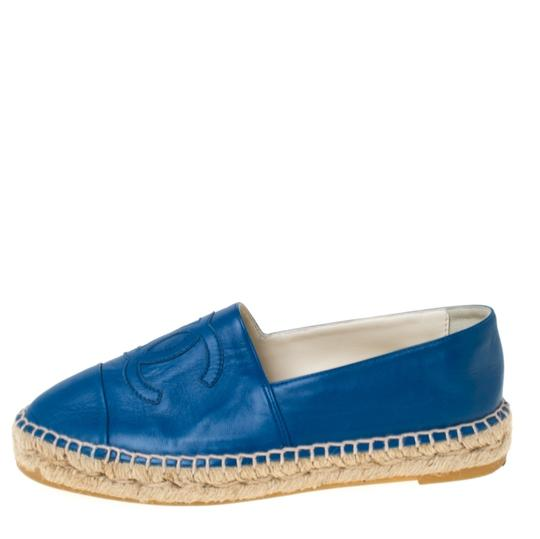 Chanel Leather Blue Flats Image 1