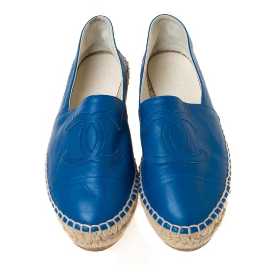 Chanel Leather Blue Flats Image 2