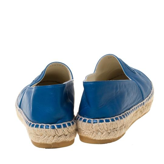 Chanel Leather Blue Flats Image 3