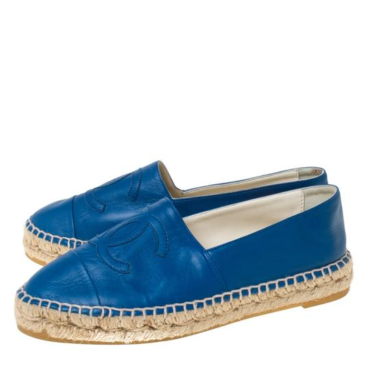 Chanel Leather Blue Flats Image 5