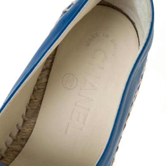 Chanel Leather Blue Flats Image 6